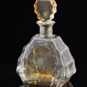 Vanaaegne kristall karahvin, hõbe äär 835 proov