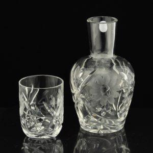 Vanaaegne kristall vee karahvin ja 1 klaas