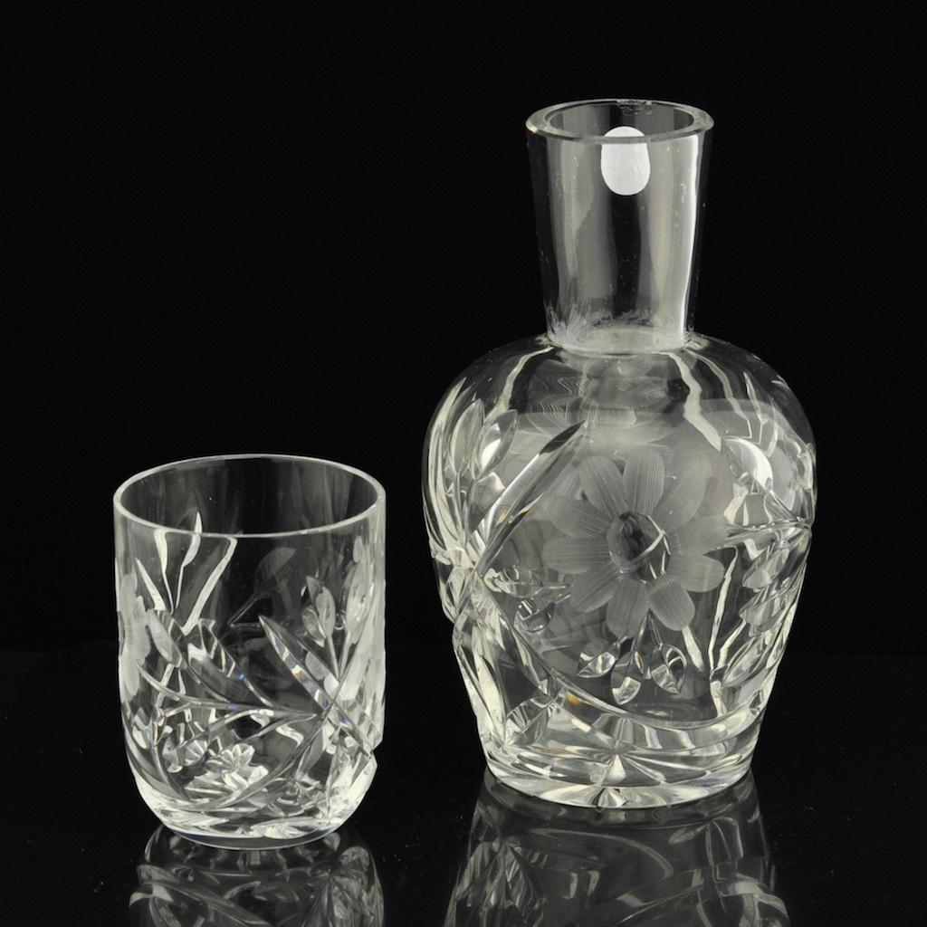 15572599cee Vanaaegne kristall vee karahvin ja 1 klaas - Idla Antiik