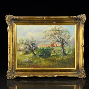 """Antique painting of the Red Farm """"1926 a Finland"""