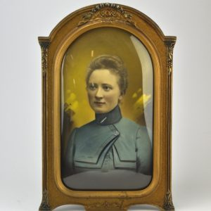 An old oval photo frame
