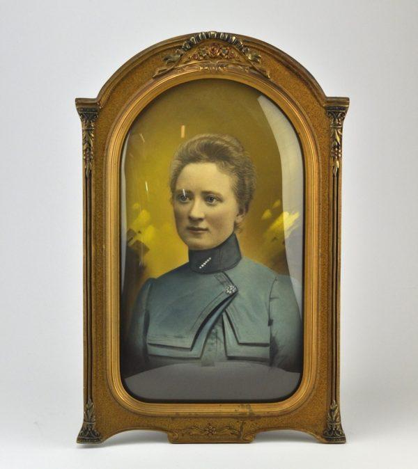An old oval photo frame