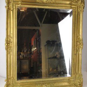 Antique golden frame mirror