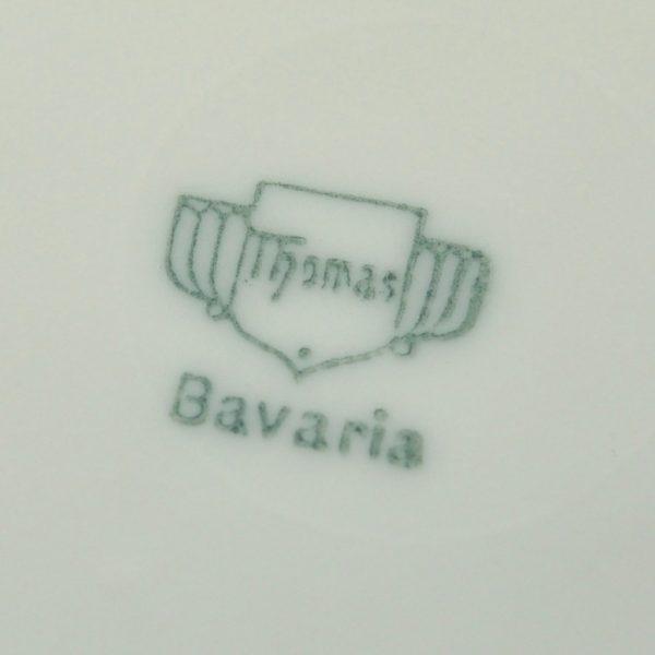 Vanaaegne portselanist taldrik puuviljadega Thomas Bavaria