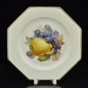 An Antique porcelain plate with fruit Thomas Bavaria
