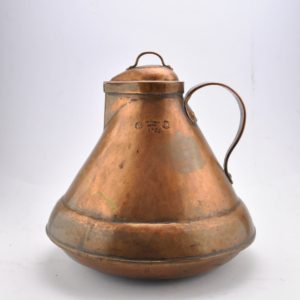 Old copper water jar 1922y