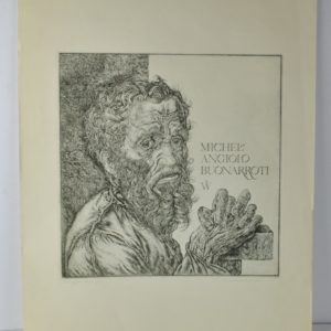 An antique Russian graphic artist Michelangelo etching