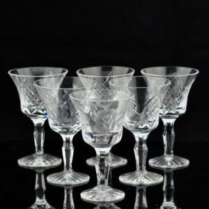 Antique crystal glasses 6pcs