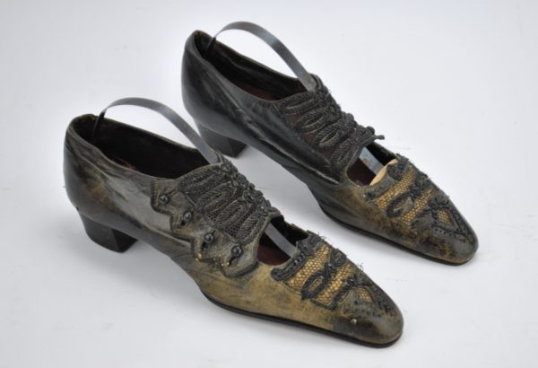 Antique black party shoes