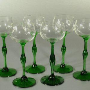 Vintage green glasses 6pc