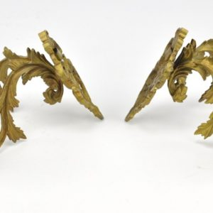 antique bronze kandelabrid 2pc