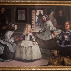 """Velázquez Las Meninas"""" koopia, õlimaal. Raamitud ja signeeritud."""""""