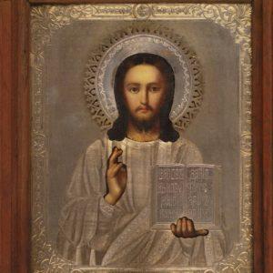 Vene Ikoon hõbe kattega Kristus Kõigevalitseja 10198 K9920