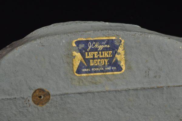 Vintage paper mache peibutis part Higgins Life-Like Decoy