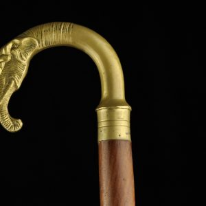 Walking stick cane with elephant head