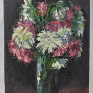 Oil Painting Aster in the vase