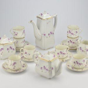 """Tsaariaegne kohvi-tee serviis, Comte Harrach St`.Petersbourg"""" 20 eset"""""""