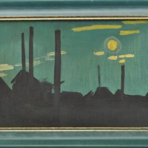 "Valdur Ohakas oil painting ""Chimneys"""