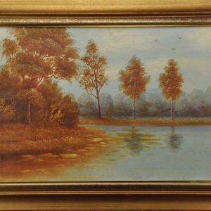 Oil painting Autumn