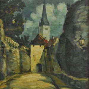 "Oil painting ""Tallinn Long leg"""