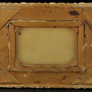Antique oil painting with golden frame