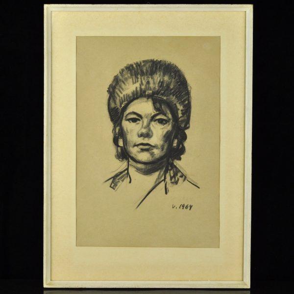 Valdemar Väli (1909-2007) Naise portre 1964a