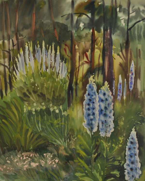 Lydia Mei (1896-1965) akvarell 1960a