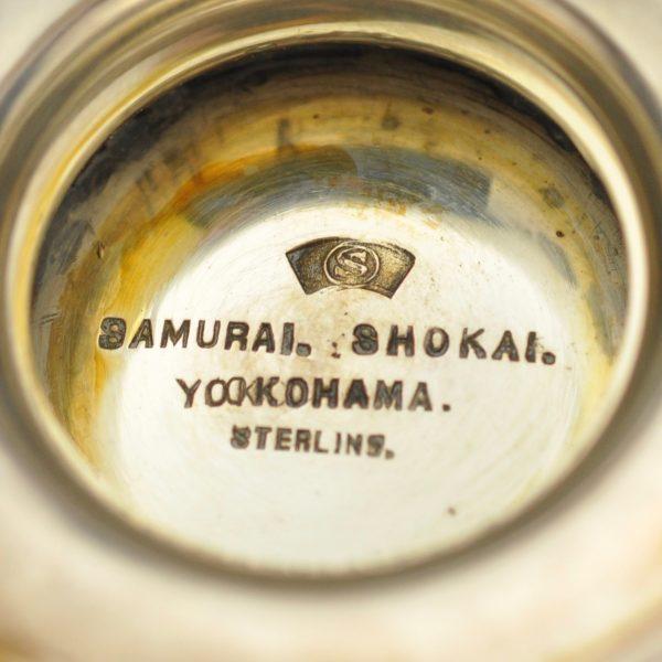Antiikne Jaapani sterling hõbe serviis - Samurai Shokai Yokohama
