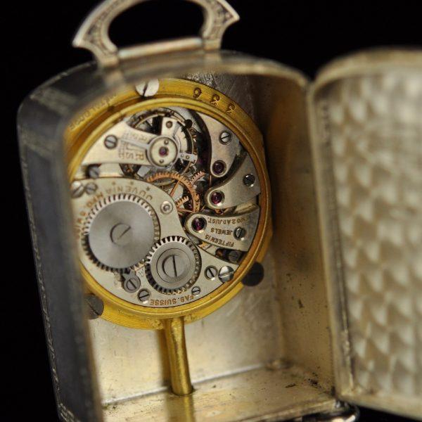 Art Deco miniatuurne hõbe kell - Ateliers Juvenia, Pariis