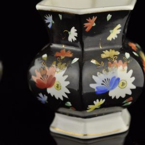 Antique 1930's Soviet Russian handpainted porcelain vase Verbilki