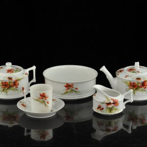Antique Imperial Russian Kornilov porcelain set for 6