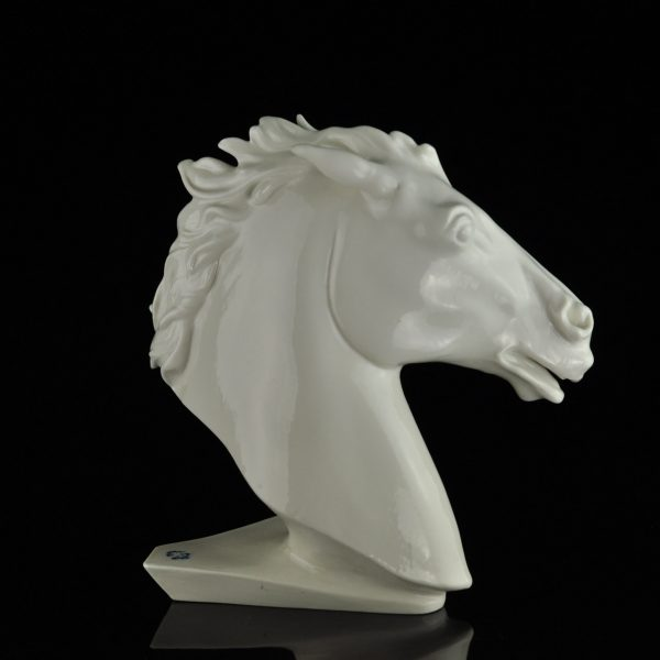 German Porcelain horse head figure by Karl Ens
