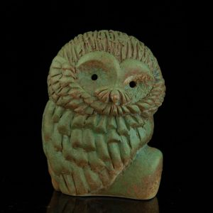 Estonian ceramic art owl by Ester Lukas