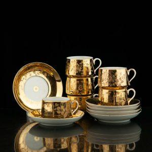 Tsaari-Vene Kuznetsovi portselan kuldne tass