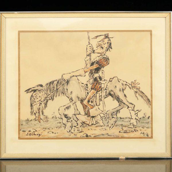 """Aleksander Ristmägi (Eisvald) 1902-1972 a """"Don Quijote"""""""