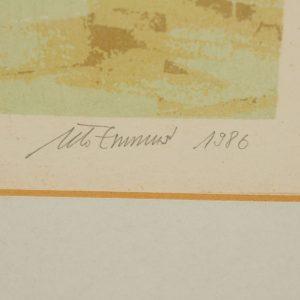 "Ülo Emmus (1947-2016)""Reflections"" litograph ,1986"