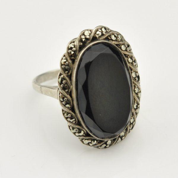 Antiikne sõrmus 813 hõbe oonüks
