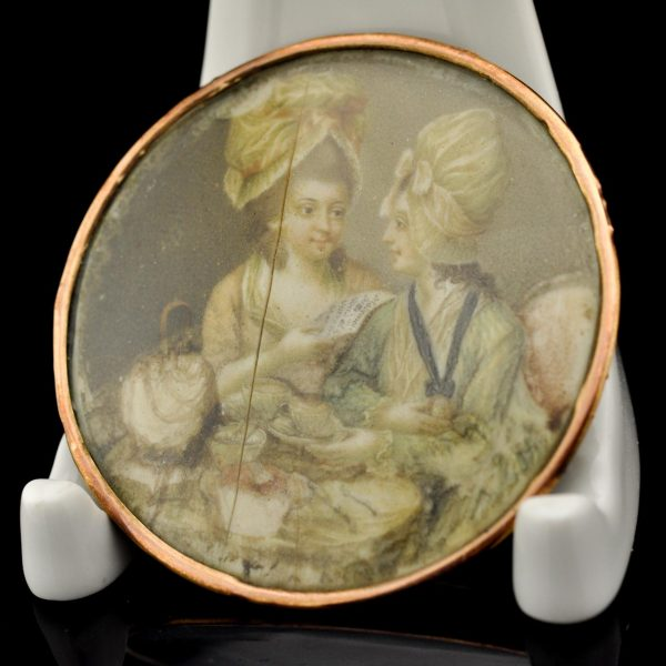 Antique Miniature portrait painting