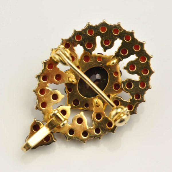 Ripats 830 hõbe kullatud, granaadid
