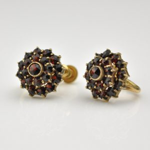 Antique earrings with garnets