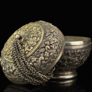 Antique Asian silver box