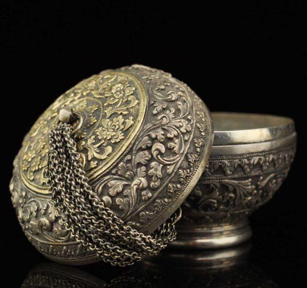 Antique Asian silver box