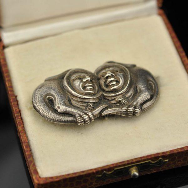 Antique Norwegian brooch 830 silver by Henrik Bertram Moller