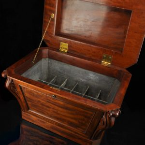 Antique 19th century mahogany wine cooler