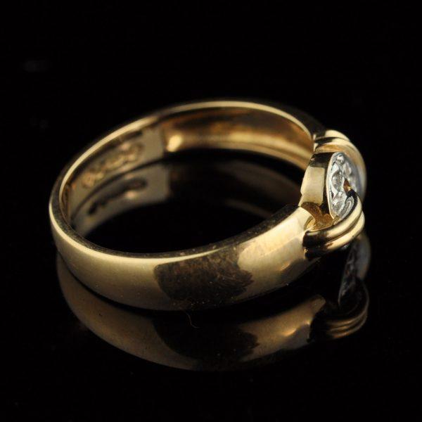 Sõrmus, 585 kuld, briljandid