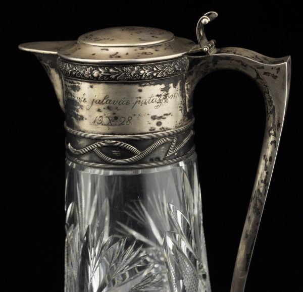 Antiikne EW aegne militaarne kingitus 1928.a. -  kristallist kann 875 hõbedaga