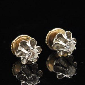 Kõrvarõngad valge kuld briljandid