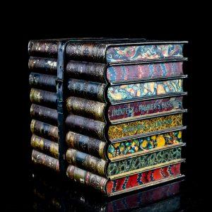 Huntley & Palmer Biscuits, antique tin box book shape