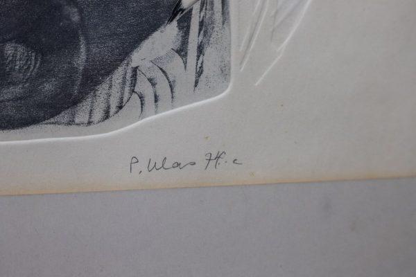 """Peeter Ulas (1934-2008) """"Õhtu"""" pehmelakk 1974a"""