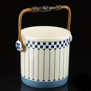 Art Deco ice bucket, ceramic ,